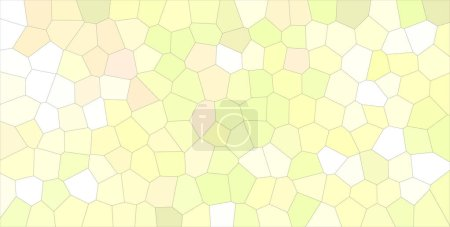 Good abstract illustration of yellow and green Middle size hexagon. Beautiful  for your prints.