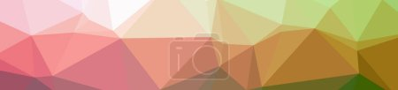 Photo for Illustration of abstract low poly orange banner background - Royalty Free Image