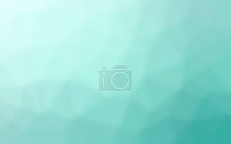 Illustration of aqua polygon through Tiny Glass background