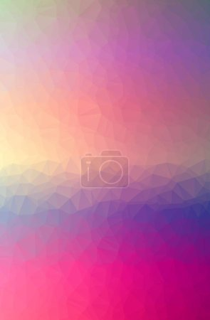 Illustration of abstract low poly pink vertical background