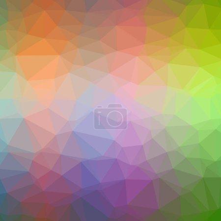Photo pour Abstract illustration de fond orange carrée basse poly - image libre de droit
