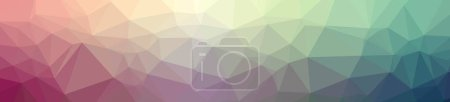 Photo for Abstract illustration of blue banner low poly background - Royalty Free Image