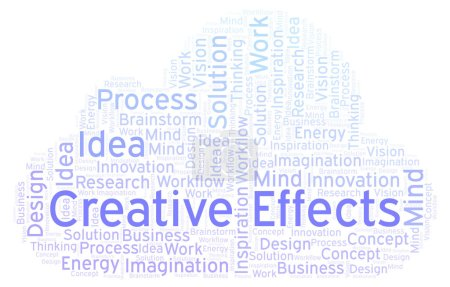 Creative Effects word cloud, made with text only