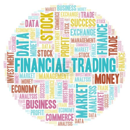 Financial Trading word cloud, wordcloud made with text only.