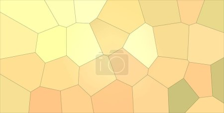 Photo for Handsome abstract illustration of orange, red and brown Gigant hexagon. Handsome  for your prints. - Royalty Free Image