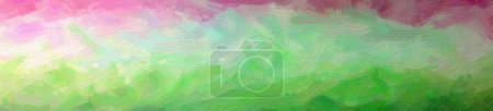 Illustration of Green and red Bristie Brush Oil Paint background, abstract paint