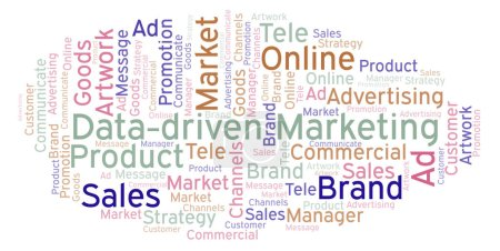 Word cloud with text Data-driven Marketing. Wordcloud made with text only.