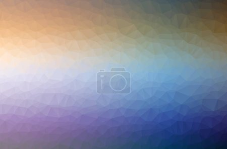 Photo for Illustration of abstract Blue, Green And Purple horizontal low poly background. Beautiful polygon design pattern. Useful for your needs. - Royalty Free Image