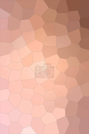 Photo for Pink colorful Big Hexagon  vertical background illustration - Royalty Free Image
