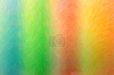 Abstract illustration of green, orange, yellow Wax Crayon background.