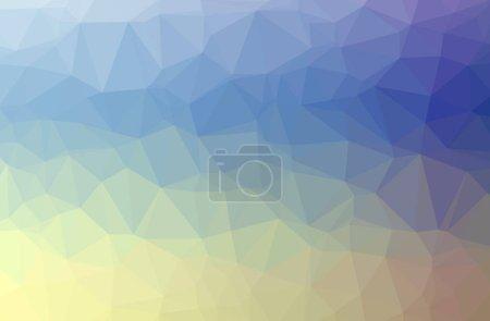 Foto de Illustration of abstract Blue, Purple, Yellow horizontal low poly background. Beautiful polygon design pattern. Useful for your needs. - Imagen libre de derechos