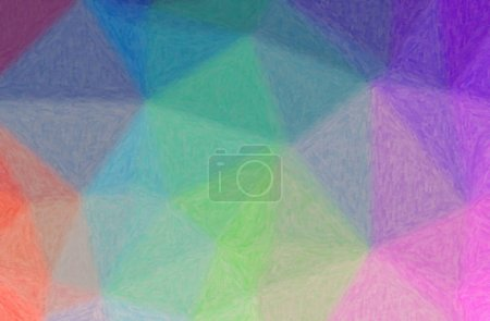 Photo pour Illustration abstraite de fond Impasto bleu, rose, violet, rouge . - image libre de droit