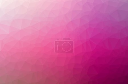 Photo pour Illustration of abstract Pink horizontal low poly background. Beautiful polygon design pattern. Useful for your needs. - image libre de droit