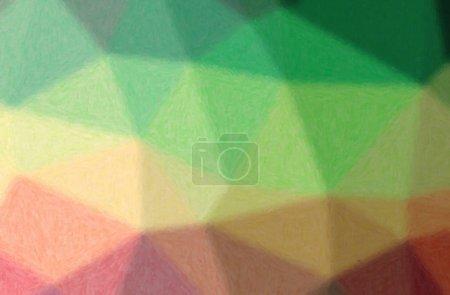 Photo pour Abstract illustration de vert, empâtement fond jaune. - image libre de droit