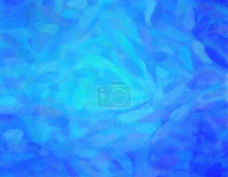 Photo pour Bonne illustration abstraite de peinture de lavage aquarelle bleue. Charmant pour votre projet . - image libre de droit