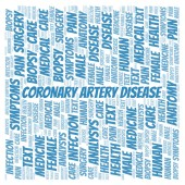 Coronary Artery Disease word cloud. Wordcloud made with text only.