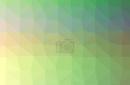 Foto de Illustration of abstract Green, Yellow horizontal low poly background. Beautiful polygon design pattern. Useful for your needs. - Imagen libre de derechos