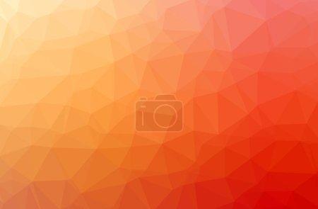 Photo pour Illustration de résumé fond Orange poly basse horizontale. Modèle de conception belle polygone. Utile pour vos besoins. - image libre de droit