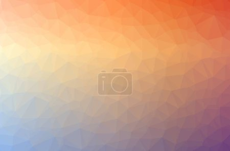 Photo pour Illustration of abstract Orange horizontal low poly background. Beautiful polygon design pattern. Useful for your needs. - image libre de droit