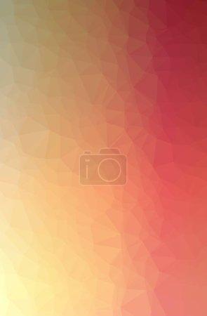 Photo pour Illustration de l'abstrait Orange vertical bas fond poly. Magnifique motif polygone. Utile pour vos besoins . - image libre de droit