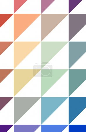 Photo for Illustration of abstract Blue, Green And Red vertical low poly background. Beautiful polygon design pattern. Useful for your needs. - Royalty Free Image
