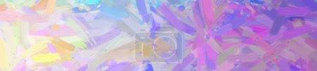 Photo pour Illustration abstraite de la peinture à l'huile violette avec un grand fond de brosse . - image libre de droit