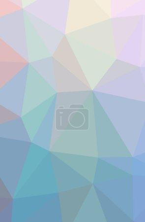 Photo pour Illustration de fond abstrait bleu, rouge, vert et jaune vertical bas poly. Magnifique motif polygone. Utile pour vos besoins . - image libre de droit