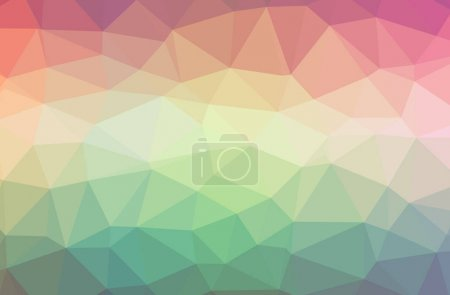 Photo for Illustration of abstract Green, Pink, Red horizontal low poly background. Beautiful polygon design pattern. Useful for your needs. - Royalty Free Image
