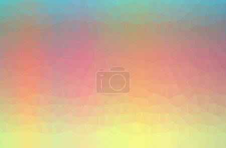 Photo pour Illustration de l'abstrait Orange, Jaune horizontal bas fond poly. Magnifique motif polygone. Utile pour vos besoins . - image libre de droit