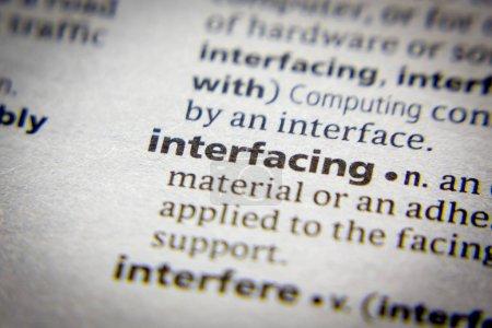 Wort oder Phrase in einem Wörterbuch.