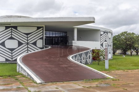 Memorial to the indigenous people in central Brasilia, Federal District, capital city of Brazil