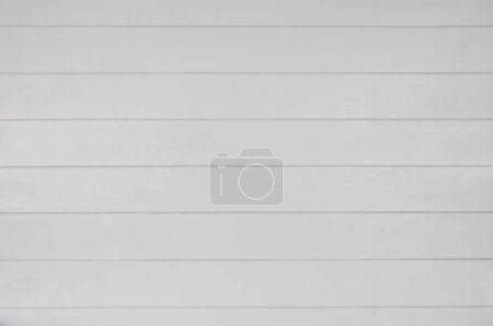 Photo for Gray wooden floor texture background. Visible horizontal plank pattern. Surface gray pastel painted wall. Top view photograph with copy space - Royalty Free Image