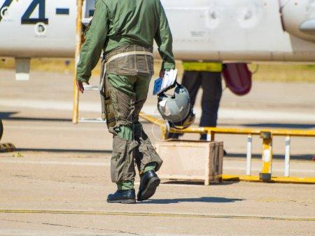 Foto de Piloto y aeronaves, avión. Espectáculo aéreo - Imagen libre de derechos