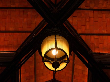 Photo for Madrid, Spain. ceiling of old building with lamp - Royalty Free Image