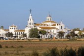 El Rocio hermitage in small village with the same name in Almonte, Huelva, Andalusia, Spain