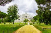 Beautiful landscape in Donana Natural Park and nature reserve. Palace of Acebron in Huelva, Andalusia Spain