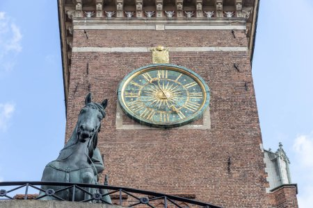 Clock at the Wawel Cathedral. Krakow, Poland