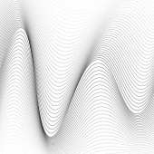 black and white wavy lines background