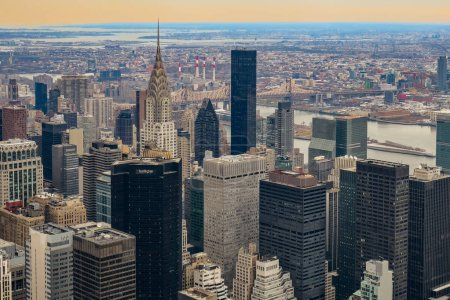 Photo for Midtown skyscraper buildings rooftop view in New York City - Royalty Free Image