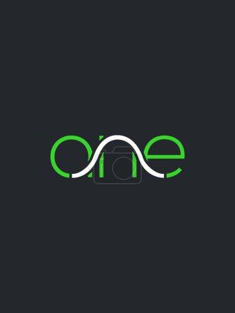 Illustration pour ANE lettres logo design pour carte de visite, vecteur, illustration - image libre de droit