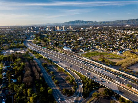 Foto de Drone punto de vista de Silicon Valley en California - Imagen libre de derechos
