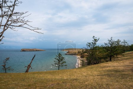 Scenic view of the shores of Lake Baikal