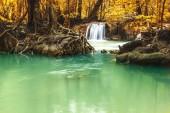 Te Lor Su Waterfall in beautiful nature in Umphang National Park, Thailand