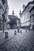 Prague, the capital and largest city of the Czech Republic. Mysterious streets, historic district, magic part, tourist destination. One of the major tourist destinations in Europe