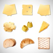A Set of Bread and Cheese illustration