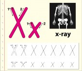 Letter X tracing alphabet worksheets