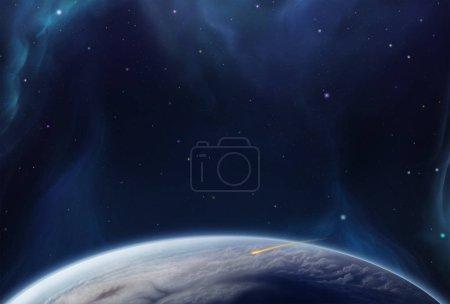 Foto de Unreal magic space illustration as background - Imagen libre de derechos