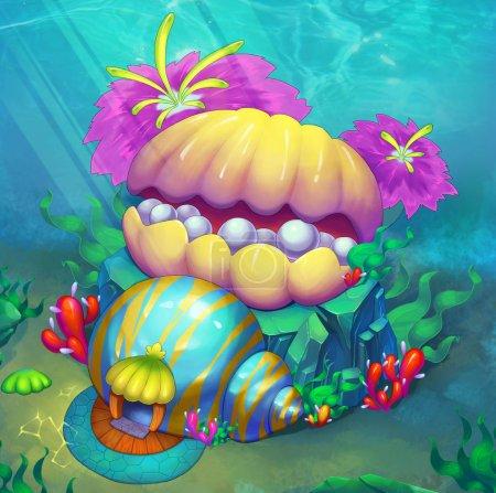 Foto de Unreal magic world illustration as background - Imagen libre de derechos