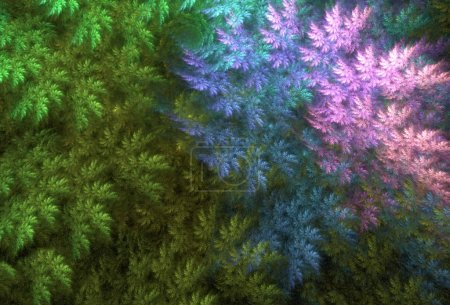 Photo for Unreal magic forest illustration as background - Royalty Free Image