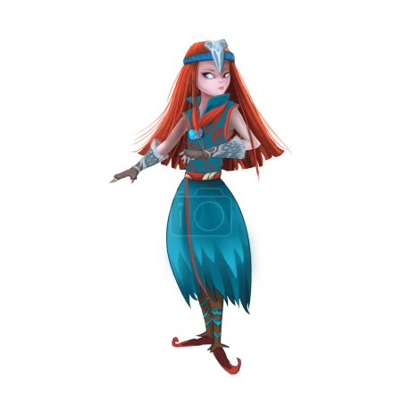 Photo for Close up view of fairy female character illustration - Royalty Free Image